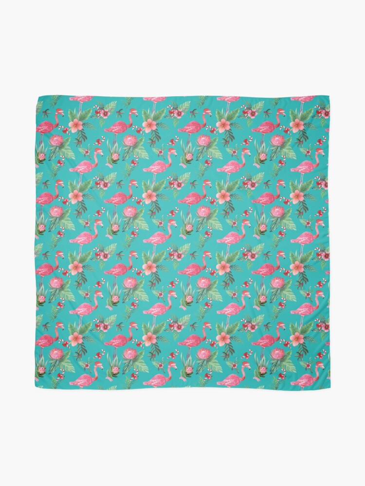 Alternate view of Christmas Flamingo Tropical Holiday Scarf