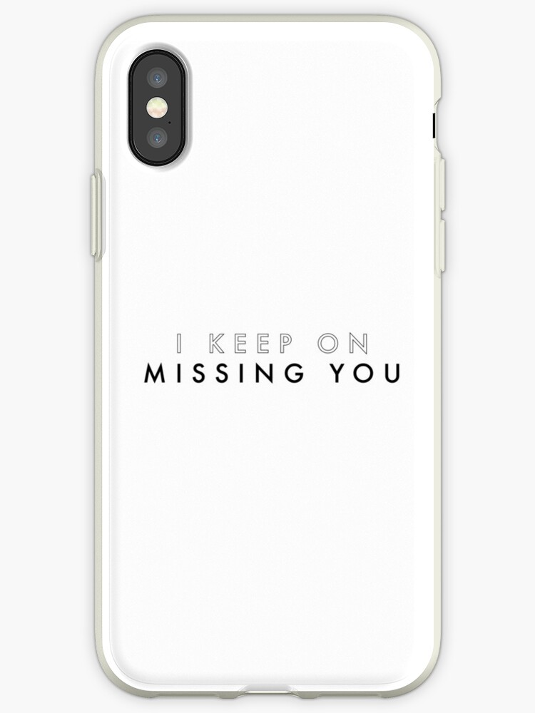 'Missing You Lyrics - The Vamps' iPhone Case by Alice Hunt