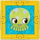 Octopus in a Frame! Print by orangepeel