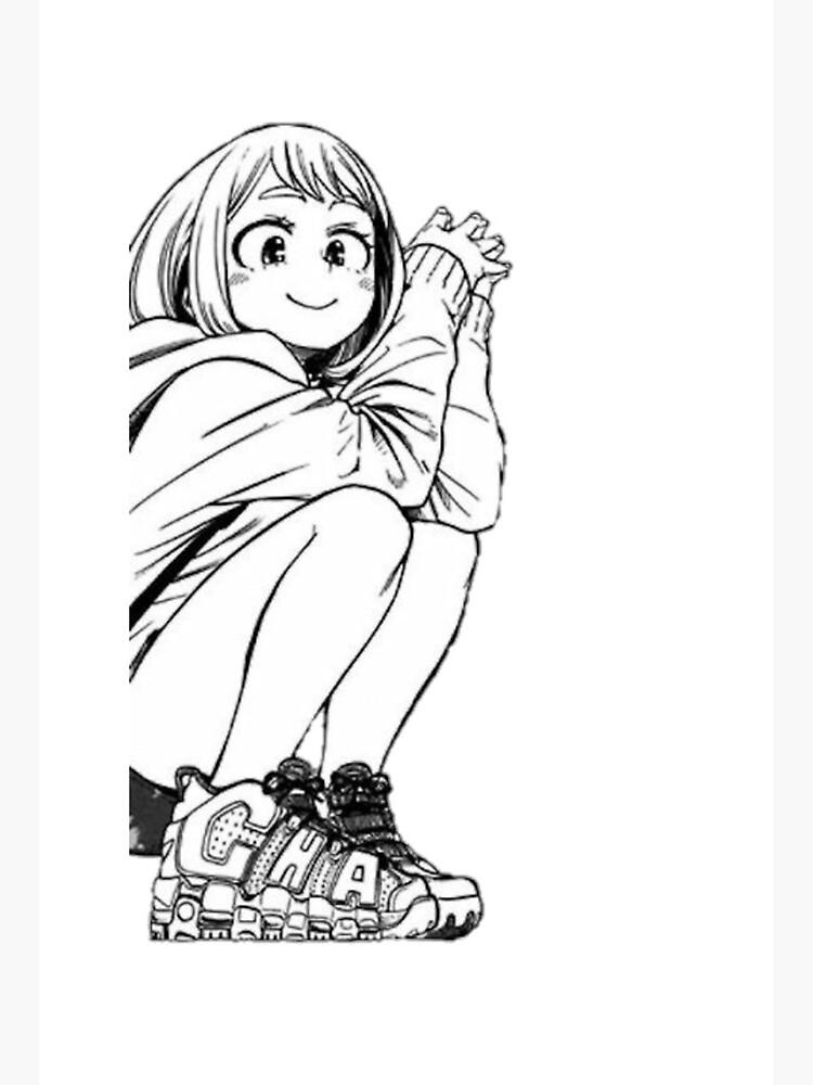 Boku No Hero Academia Manga Ochaco Uraraka Art Board Print By Dancermj02 Redbubble