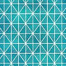 Teal Triangle Dots Pattern by blueskywhimsy