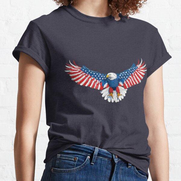090-940 American Flag Eagle Classic T-Shirt