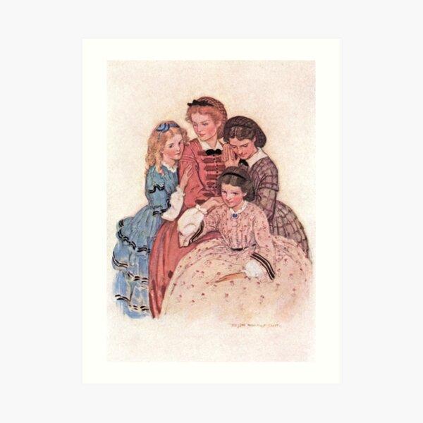 Jessie Willcox Smith - Little Women - Meg, Jo, Beth and Amy Art Print