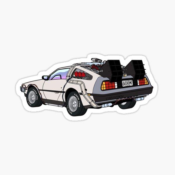 BTTF Delorean Retro Design Sticker