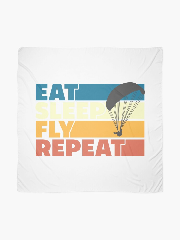 Alternate view of Eat Sleep Fly Repeat Retro Style Scarf
