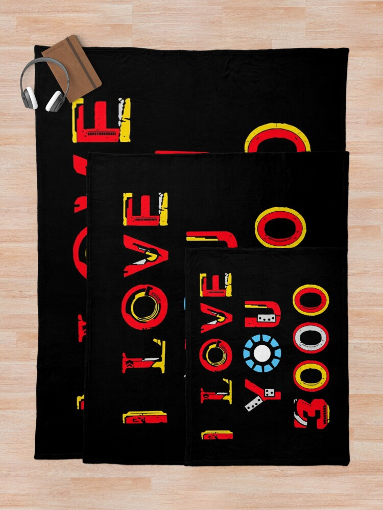 Alternate view of I Love You 3000 v2 Throw Blanket