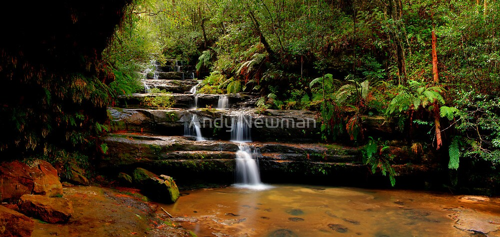 Terrace Falls, New South Wales. by Andy Newman