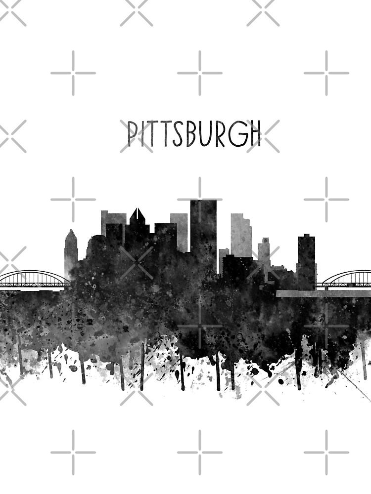 Pittsburgh, Pittsburgh Skyline by Rosaliartbook