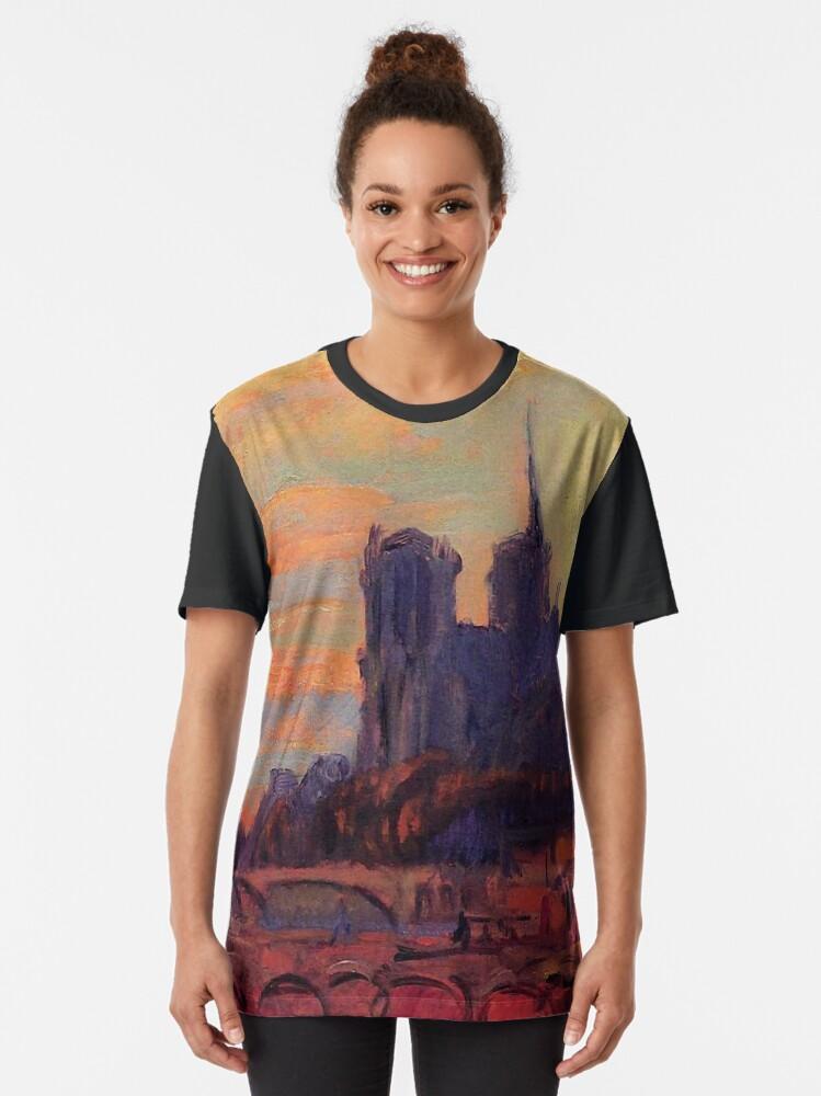 """Alternate view of Albert Lebourg  (1895) """"Notre Dame de Paris"""" Graphic T-Shirt"""