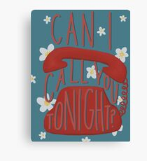 Can I Call You Tonight- Dayglow Canvas Print