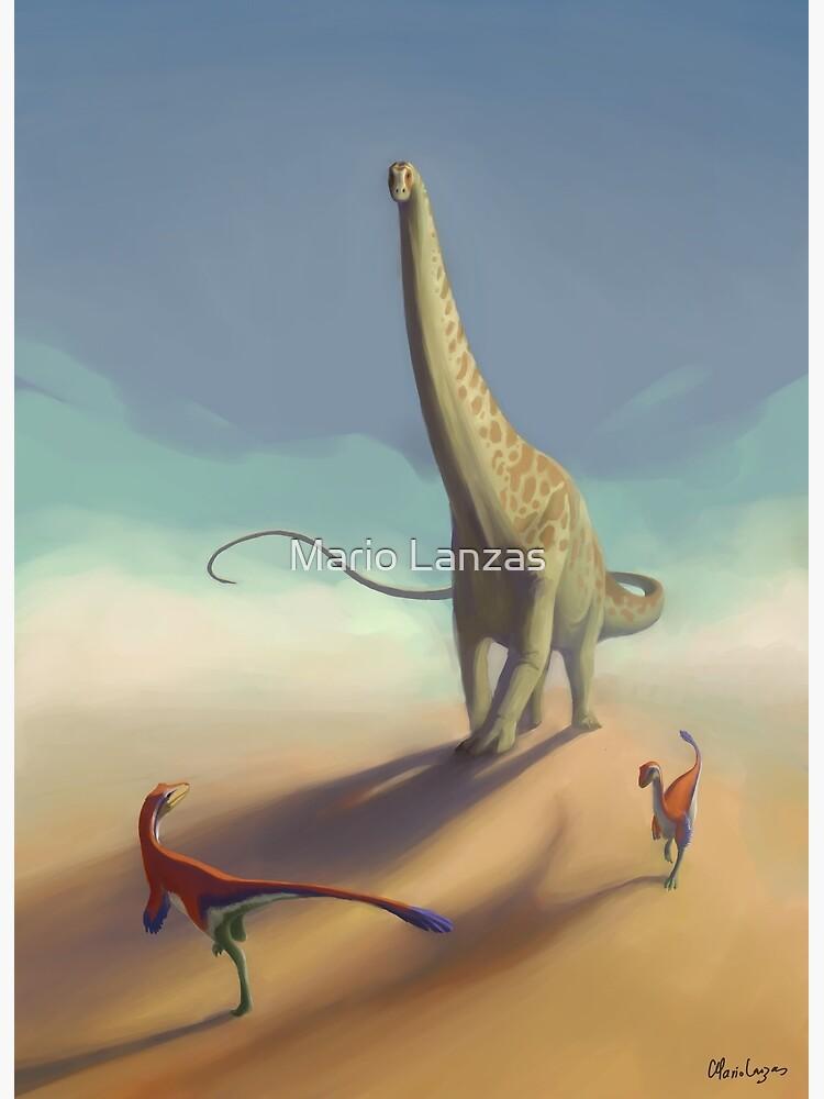Diplodocus und Ornitholestes von mariolanzas