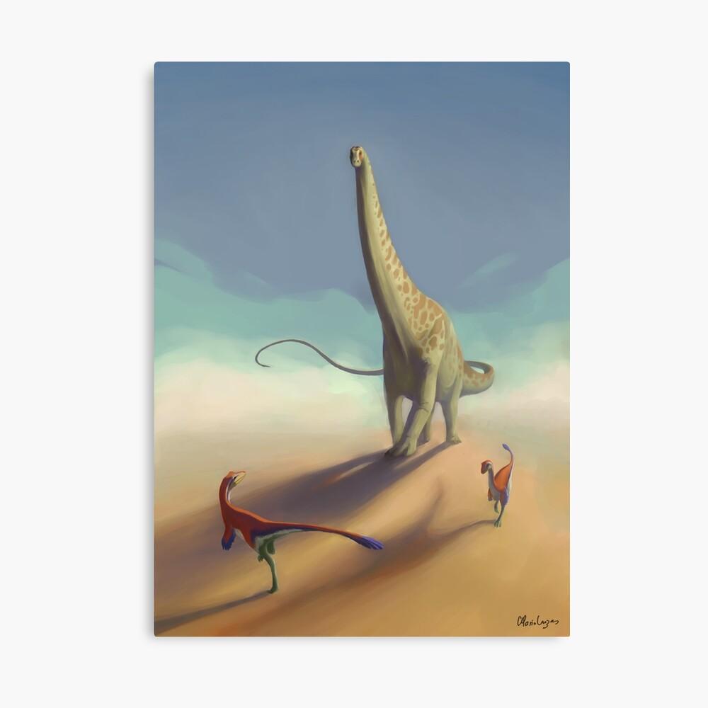 Diplodocus and Ornitholestes Canvas Print