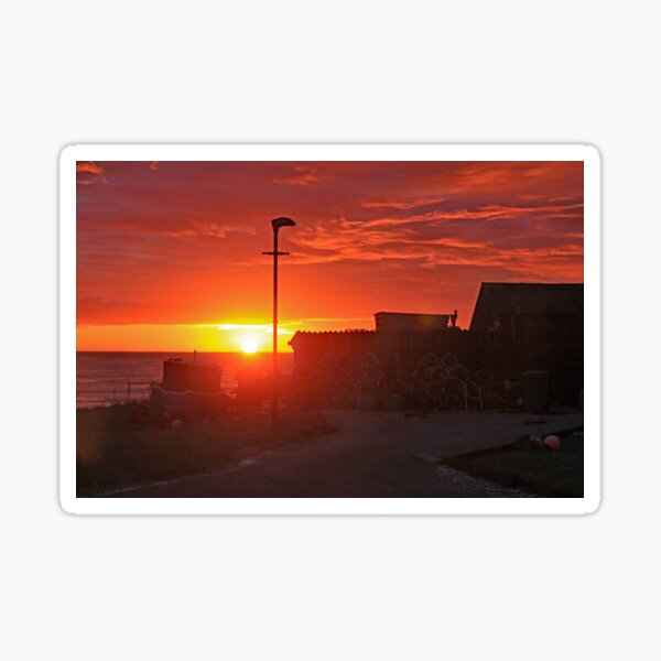 Brora Estuary Fish Smokehouse at Sunrise Sticker