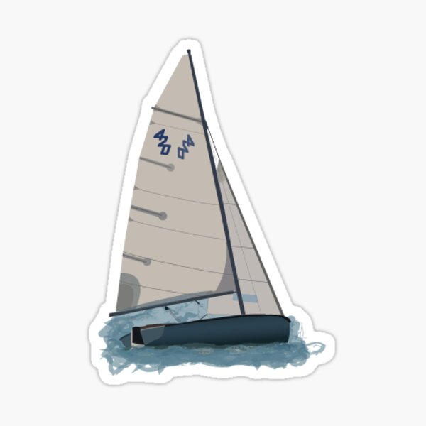 420 sailboat Sticker
