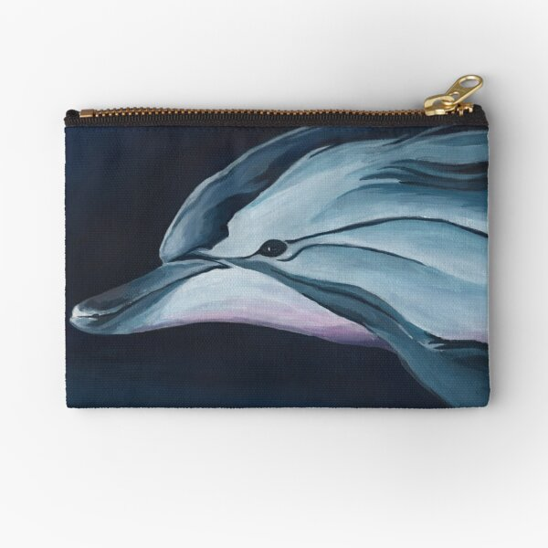 Striped dolphin face Zipper Pouch
