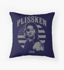 Plissken For President 2016 Throw Pillow