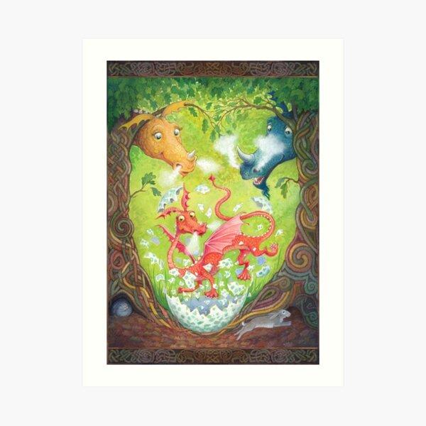 A Dragon is Born Art Print