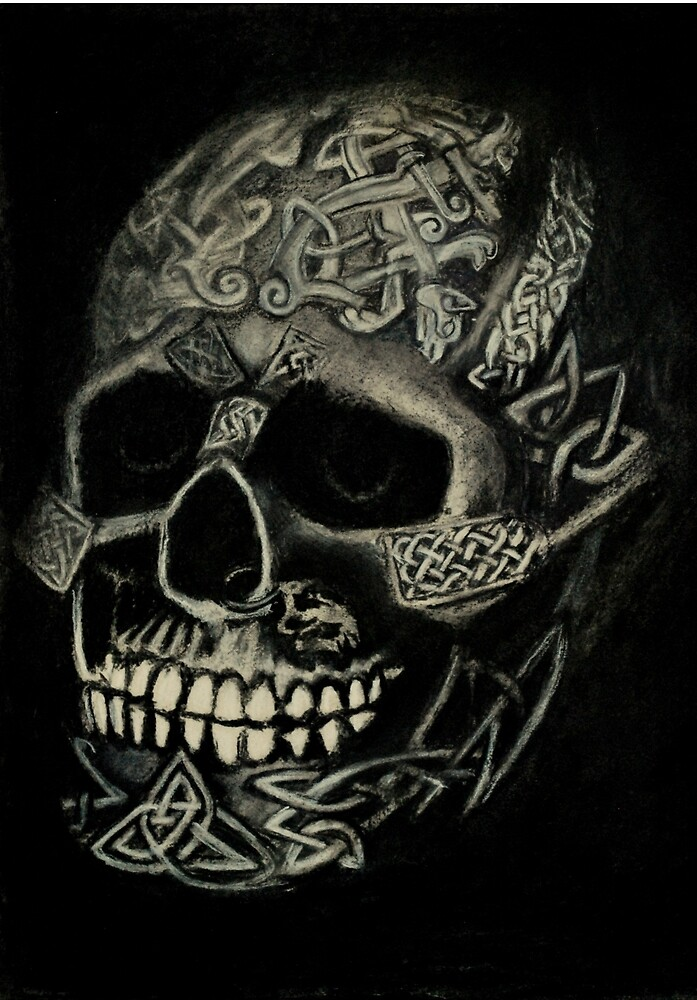 Celtic Skull by Lynn Hughes