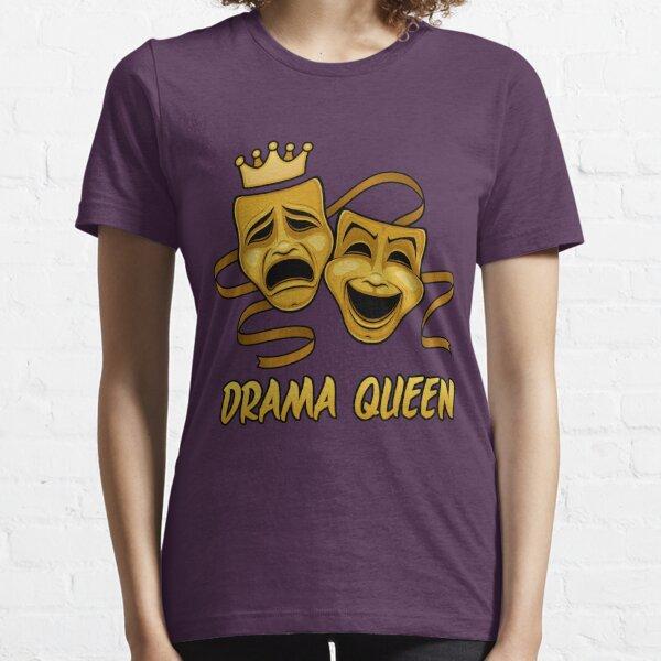 Drama Queen Comedia y tragedia Gold Theatre Masks Camiseta esencial