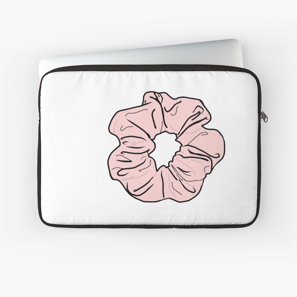 Rosa Scrunchie Laptoptasche
