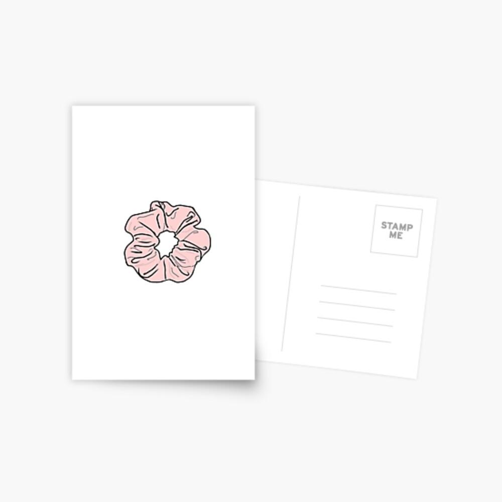 Rosa Scrunchie Postkarte