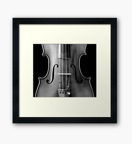 copy of Stradivarious 'Soil' 1714 (b&w) © 2010 patricia vannucci  Framed Print