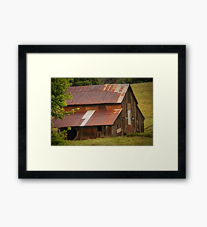 Old Rusted Barn Framed Print