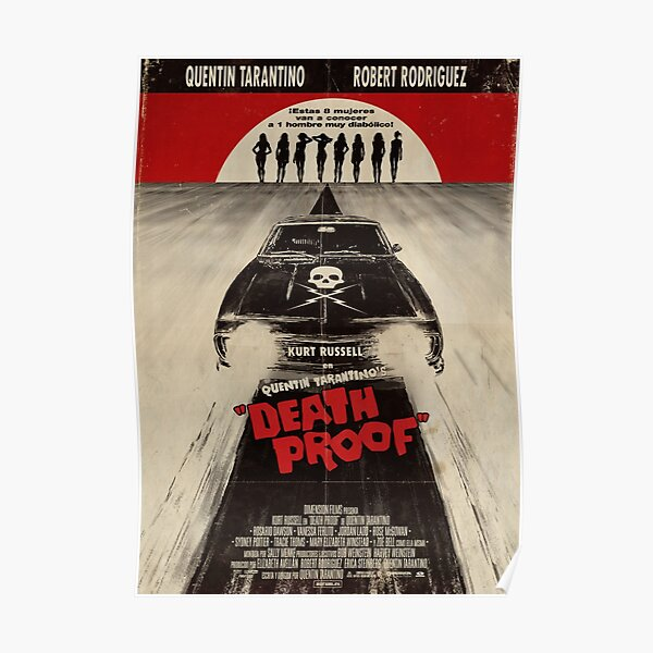 Death Proof Movie Poster Written And Directed By Quentin Tarantino Spanish Version Artwork, Posters, Prints, Tshirts, Mugs, Bags, Women, Men Poster