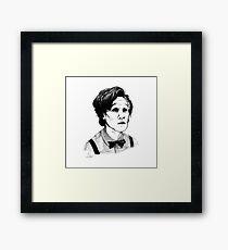 Matt Smith (Doctor Who) Etching Framed Print