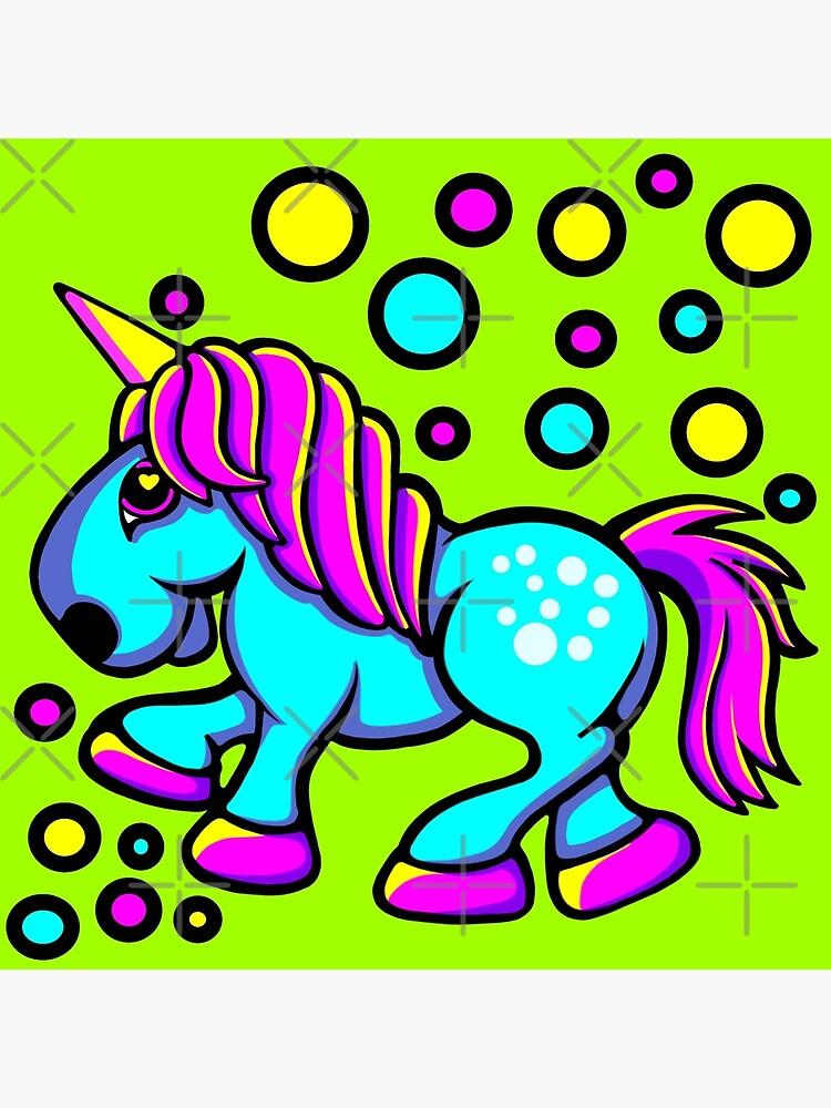 Einhorn Farbe Blau und Pink von Sookiesooker