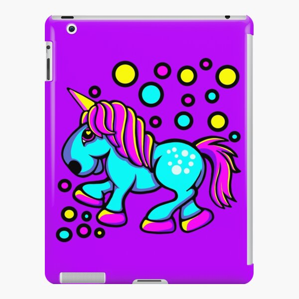 Unicorn Colour Blue and Pink  iPad Snap Case