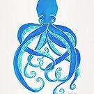 Krake - blaue Palette von Cat Coquillette