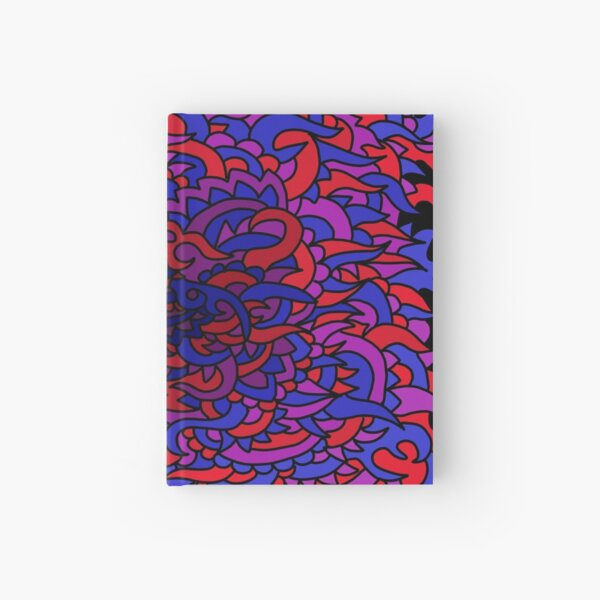 Red blue purple Hardcover Journal