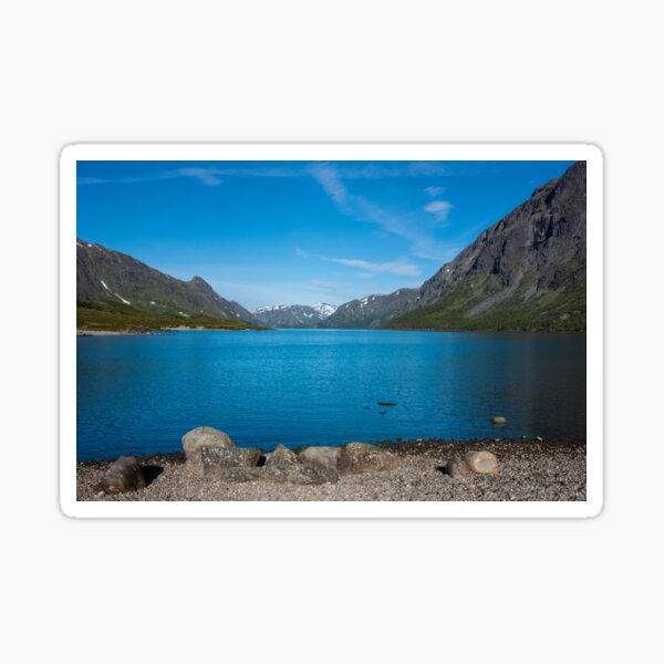 Gjendsee am Besseggen in Norwegen / Skandinavien Sticker