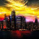 Skyline by Night von Jasmina Seidl
