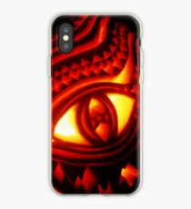 Ornate pumpkin carving iPhone Case