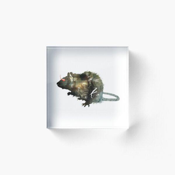 Rat. Rat! Acrylic Block