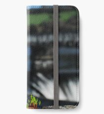 Pontsticill reservoir macro, portrait iPhone Wallet/Case/Skin
