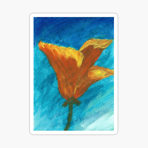California Poppy Sticker