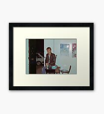 Philip 'Charlie' Rees door bitch Art Unit 1983 Framed Print