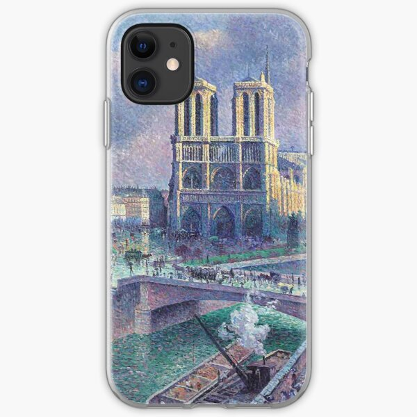 """Maximilien Luce """"Notre Dame de Paris"""" (2) iPhone Soft Case"""