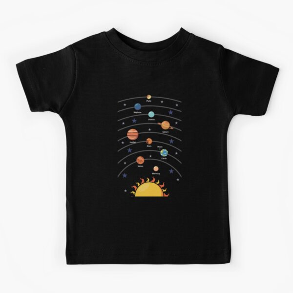 Solar System with the Planets  Kids T-Shirt