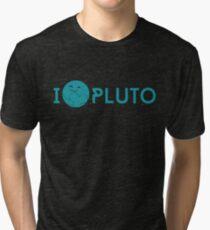 Camiseta de tejido mixto I <3 Plutón (trullo)