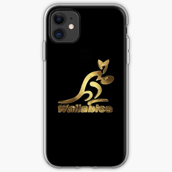 Australia Rugby Wallabies Gold iPhone Soft Case