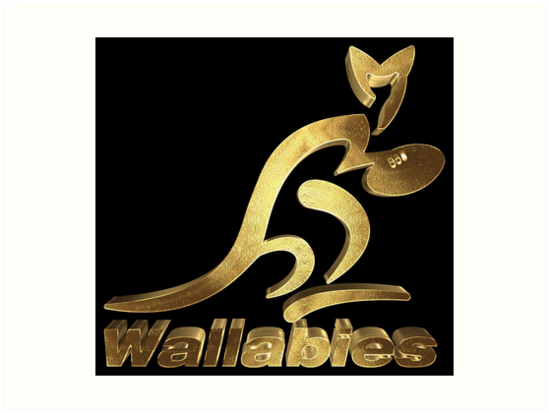 Australia Rugby Wallabies Gold Art Print By Under Thetable Redbubble