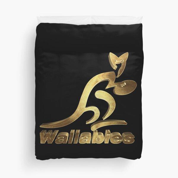 Wallabies Australie Rugby Or Housse de couette
