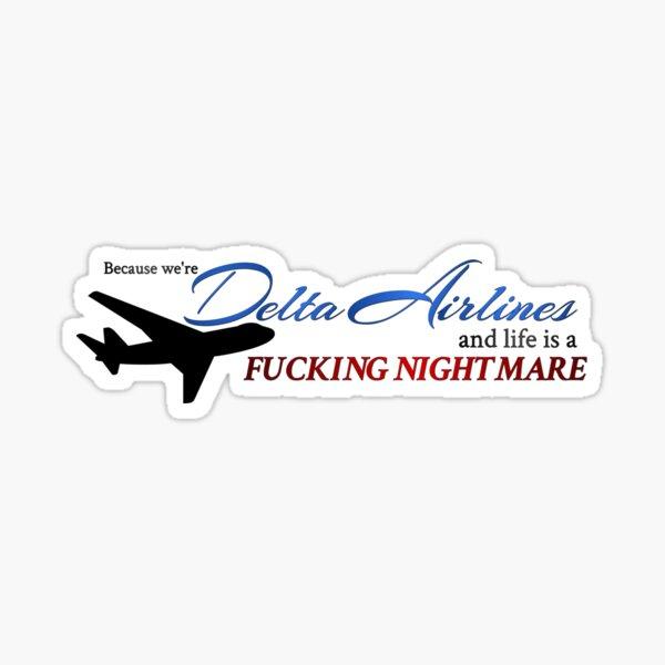 Delta Airlines Sticker