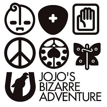 Jojo's Bizarre Adventure Symbols by nintendino