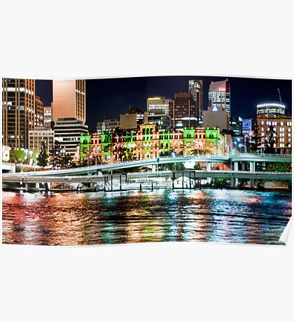 Brisbane Fairy Lights Poster