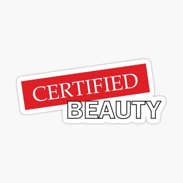 Certified Beauty Sticker